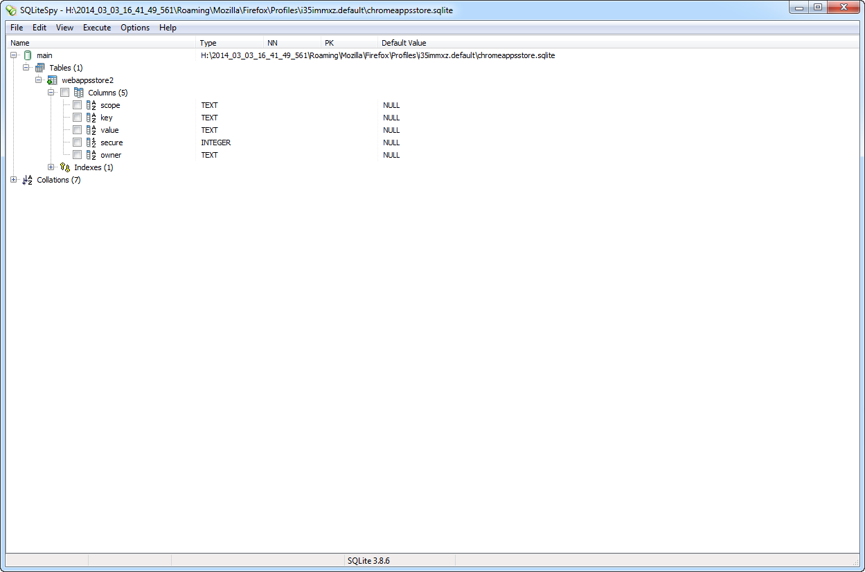 chromeappsstore sqlite - Browser Forensics - Digital Detective