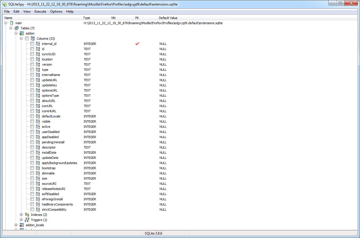 extensions sqlite - Browser Forensics - Digital Detective