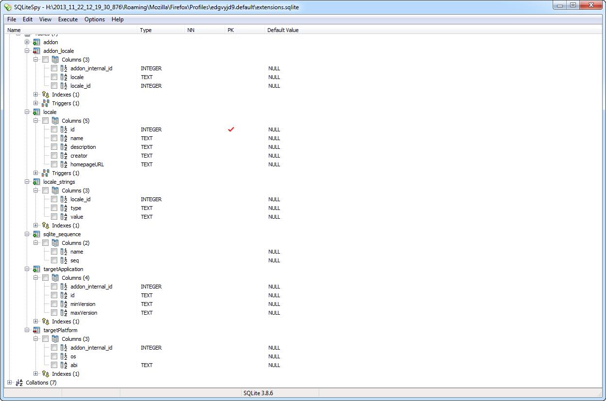 extensions sqlite - Browser Forensics - Digital Detective Knowledge Base